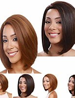 cheap -Synthetic Wig Matte kinky Straight Bob Wig Short Light Blonde Light Brown Synthetic Hair 14 inch Women's Classic Best Quality Romantic Blonde Brown