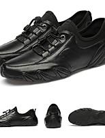 Недорогие -Муж. Лето На каждый день Повседневные Туфли на шнуровке Кожа / Полиуретан Нескользкий Белый / Черный