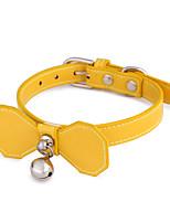 cheap -Dog Cat Pets Collar Portable Retractable Soft Cute and Cuddly Adjustable Flexible Durable Casual / Daily Classic Bowknot PU Leather Golden Retriever Corgi Beagle Bulldog Shiba Inu Cocker Spaniel