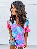 cheap -Summer Tie Dye Rainbow T-Shirt