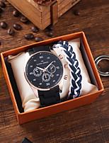 cheap -Men's Sport Watch Quartz Rubber Black / Blue Chronograph Casual Watch Cool Analog Classic Fashion - Black Blue / Large Dial