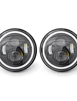 cheap -2pcs 7 Inch LED Headlights White/Yellow Light Beam Halo Angle Eye For Jeep Wrangler JK TJ LJ