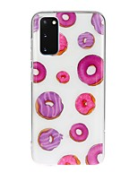 cheap -Case For Samsung Galaxy S10 5G/ Galaxy S20 Ultra / Galaxy S10E Transparent / Pattern Back Cover Food TPU For Galaxy A51/A71/A20/A20E/A30/A50/A70/Note 10 Plus