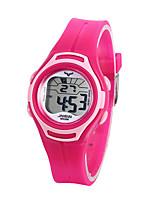 cheap -Kids Sport Watch Digital PU Leather Pink Water Resistant / Waterproof Calendar / date / day Digital Cartoon - Blushing Pink / Stainless Steel