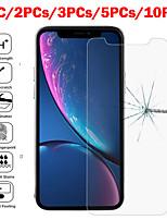 Недорогие -1 шт. / 2 шт. / 3 шт. / 5 шт. / 10 шт. 9h HD канавка прозрачная пленка iphone закаленная подходит для 6/6 с плюс 7/8 плюс х / х х XR макс. 11 макс.