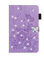 cheap -Case For Apple iPad 10.2 /Pro 11 2020/Mini 3/2/1/4/5 Card Holder / Rhinestone / with Stand Full Body Cases Butterfly / Solid Colored / Glitter Shine PU Leather For iPad New Air 10.5 2019/iPad 4/3/2