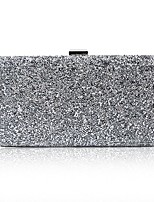 cheap -Women's Crystals / Hollow-out PU Evening Bag Solid Color Black / Gold / Silver
