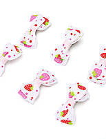 cheap -Dog Cat Pets Ornaments Portable Mini Cute and Cuddly For Dog / Cat Casual Cute Casual / Daily Color Block Cartoon Fruit Fabric Pink 5pcs