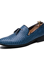 cheap -Men's Spring & Summer / Fall & Winter Classic / British Daily Outdoor Loafers & Slip-Ons Walking Shoes Leather Breathable Wear Proof Black / Blue / Gray