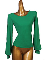 cheap -Ballroom Dance Top Split Joint Women's Performance Long Sleeve Spandex