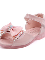 cheap -Girls' Comfort PU Sandals Toddler(9m-4ys) / Little Kids(4-7ys) Walking Shoes Bowknot Almond / Pink Summer / Fall