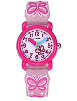 cheap -Kids Sport Watch Automatic self-winding Silicone Water Resistant / Waterproof Analog Cartoon - White Blushing Pink