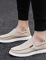 cheap -Men's Spring & Summer / Fall & Winter Classic / British Daily Outdoor Loafers & Slip-Ons Walking Shoes Canvas Breathable Wear Proof Black / Beige / Gray