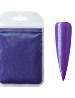cheap -10g/pack Aurora Glitter Mermaid Powder 3D Nail Art Chrome Pigment Holographic Nail Glitter Powder Decoration