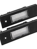 cheap -Pair 24-SMD LED License Plate Lights 6000K White For Fiat Marea Alfa 46408006 46786572