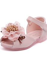cheap -Girls' Comfort PU Sandals Toddler(9m-4ys) / Little Kids(4-7ys) Walking Shoes Flower Pink / Beige Spring / Summer