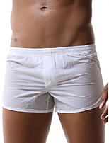 cheap -Men's Basic Boxers Underwear - Normal Low Waist White Black Orange S M L
