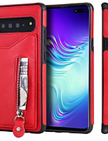 cheap -Case For Samsung Galaxy S9 / S9 Plus / S8 Plus Card Holder / Shockproof / Dustproof Back Cover Solid Colored PU Leather / TPU