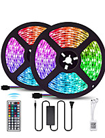 cheap -LOENDE 10M 2x5M LED Light Strips RGB Tiktok Lights SMD 5050 600LEDs IP60 Waterproof Lighting Color Changing Tape with 44 Keys IR Remote Controller DC 12V 6A Power Supply for TVHome Kitchen Bedroom Dec