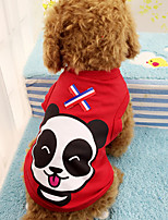 cheap -Dog Vest Dog Clothes Red Green Costume Cotton Character Cute XS S M L XL