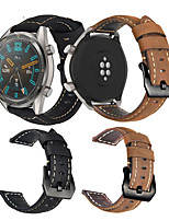 cheap -Watch Band for Huawei Watch GT / Huawei Watch GT 2 / Huawei Watch GT2 46mm Huawei Leather Loop / Modern Buckle / Business Band Quilted PU Leather Wrist Strap