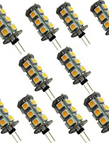 cheap -10pcs 2 W LED Bi-pin Lights 200 lm G4 18 LED Beads SMD 5050 Warm White White 12 V