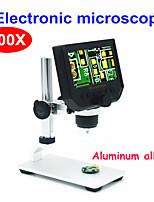 Недорогие -Цифровой микроскоп 600x электронный видеомикроскоп 4.3-дюймовый hd жк-микроскоп для пайки ремонт телефона лупа металлическая подставка