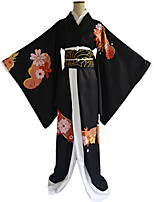 cheap -Inspired by Demon Slayer: Kimetsu no Yaiba Anime Cosplay Costumes Japanese Cosplay Suits Top Kimono Coat Waist Belt For Women's / Sash / Ribbon