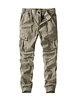 cheap -Men's Hiking Pants Hiking Cargo Pants Summer Outdoor Loose Breathable Quick Dry Soft Sweat-wicking Cotton Pants / Trousers Bottoms Running Camping / Hiking Hunting Black Army Green Khaki 28 30 32 34