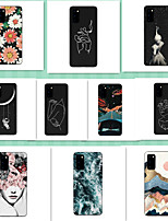 cheap -Case for Samsung scene graph S20 S20 Plus S20 Ultra Stick figure pattern full-painted TPU material soft phone case
