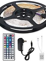Недорогие -5м гибкие светодиодные полосы света гибкие огни tiktok 150 светодиодов smd5050 многоцветные декоративные / ТВ фон 12 В