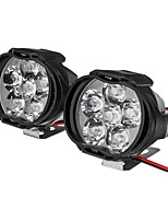 cheap -2pcs 6 LED 9-85V 10W Black Motorcycle Headlights Motorbike Driving Fog Spot Ligh Switch