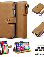 cheap -Case For Apple iPhone 11 / iPhone 11 Pro / iPhone 11 Pro Max Wallet / Card Holder / Dustproof Full Body Cases Solid Colored PU Leather / TPU