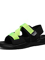 cheap -Men's Summer Classic / British Daily Outdoor Sandals Walking Shoes Cotton Breathable Wear Proof White / Black / Burgundy