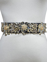 cheap -Metalic / Elastic Wedding / Party / Evening Sash With Belt / Crystals / Rhinestones Women's Sashes
