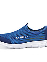 cheap -Men's Summer Sporty / Casual Athletic Daily Loafers & Slip-Ons Walking Shoes / Upstream Shoes Mesh Breathable Black / Blue / Gray