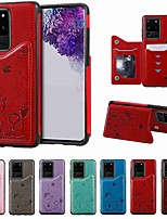 cheap -Case For Samsung Galaxy S20 / S20 Plus / S20 Ultra Wallet / Card Holder / with Stand Back Cover Cat and Bee Embossing PU Leather / TPU for Galaxy S10 / S10E / S10 Plus / A50(2019) / A30S(2019)