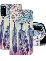 cheap -Case For Samsung Galaxy A91 / M80S / Galaxy A81 / M60S / S20 Plus Wallet / Card Holder / with Stand Full Body Cases Feathers PU Leather For Samsung Galaxy S20 Ultra/A01/A11/A21/A41/A70E