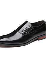 cheap -Men's Summer / Fall Classic / Casual Daily Office & Career Oxfords Faux Leather Non-slipping Wear Proof Black / Yellow / Burgundy