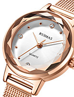cheap -Women's Steel Band Watches Luxury Fashion Stainless Steel Japanese Quartz Rose Gold Water Resistant / Waterproof 30 m 1 pc Analog One Year Battery Life