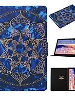 Недорогие -чехол для huawei mediapad t5 10 держатель карты / с подставкой / флип чехлы для тела цветок pu кожа для huawei mediapad t3 10
