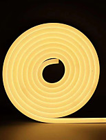 cheap -1m Neon Strip Lights 120 LEDs 2835 SMD 1pc Warm White / White / Yellow Waterproof / Cuttable / Decorative 12 V