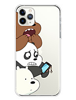cheap -Case For Apple iPhone 11/11 Pro/11 Pro Max/XS/XR/XS Max/8 Plus/7 Plus/6S Plus/8/7/6/6s/SE/5/5S Transparent Pattern Back Cover Cute Bears Soft TPU