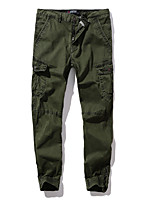 cheap -Men's Hiking Pants Hiking Cargo Pants Summer Outdoor Standard Fit Breathable Quick Dry Soft Sweat-wicking Cotton Pants / Trousers Bottoms Running Camping / Hiking Hunting Army Green Khaki Ivory 29 30