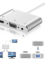 cheap -4 In1 Digital Audio Video HDTV Converter for IPhone To HDMI VGA AV Adapter for IPhone Xs X XR 8 7 6plus for IPad Air/mini/pro