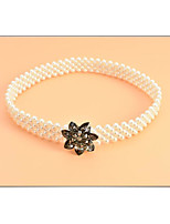 cheap -Other Material Wedding / Party / Evening Sash With Imitation Pearl / Belt Women's Sashes