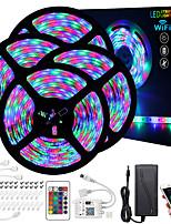 Недорогие -ZDM 20 м (4 * 5 м) светодиодные полосы RGB TIKTOCK водонепроницаемый водонепроницаемый интеллектуальное управление диммером приложение гибкое 2835 smd ИК-контроллер 24 ключа с установочным пакетом 12v