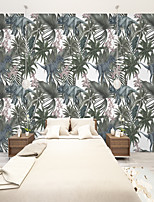 cheap -Custom Self-Adhesive Mural Wallpaper Nostalgic Rainforest Leaves Suitable For Bedroom Living Room Cafe Restaurant  Wall Cloth  Room Wallcovering