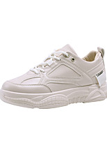 cheap -Women's Trainers / Athletic Shoes Summer / Fall Flat Heel Round Toe Sporty Dad Shoes Athletic Outdoor Mesh / PU Running Shoes / Walking Shoes Beige