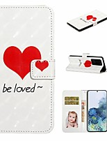 cheap -Case For Samsung Galaxy S20 / Galaxy S20 Plus / Galaxy S20 Ultra Wallet / Card Holder / with Stand Full Body Cases Love PU Leather / TPU for Galaxy A51 / A71 / A80 / A70 / A50 / A30S / A20